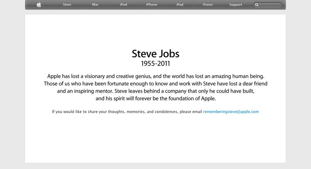 Tribute: Steve Jobs 1955-2011